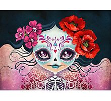 Amelia Calavera - Sugar Skull Photographic Print