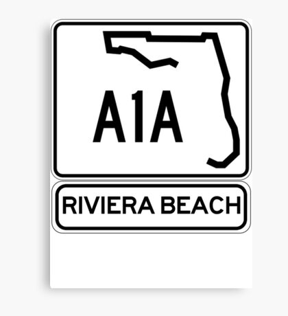 A1A - Riviera Beach Canvas Print