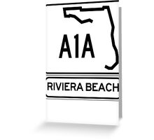 A1A - Riviera Beach Greeting Card