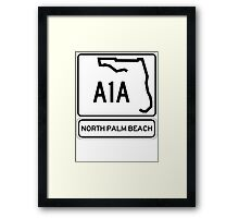 A1A - North Palm Beach Framed Print