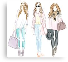 girl fashion outfit Canvas Print