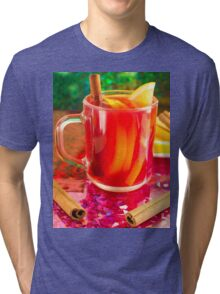 Glass mug with citrus mulled wine Tri-blend T-Shirt