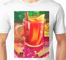 Glass mug with citrus mulled wine Unisex T-Shirt