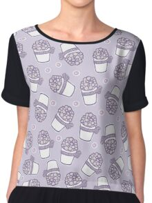 Grape dessert Chiffon Top