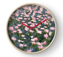 Pink Foxtrot tulips bloom Clock