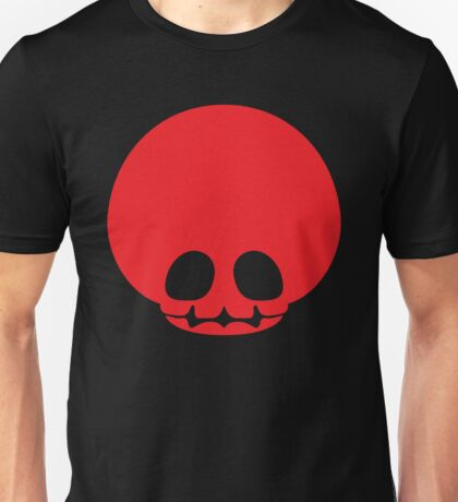 Toad Skull - Red Unisex T-Shirt