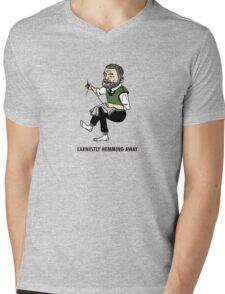 """""""Earnestly Hemming Away"""" Mens V-Neck T-Shirt"""