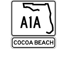 A1A - Cocoa Beach Photographic Print