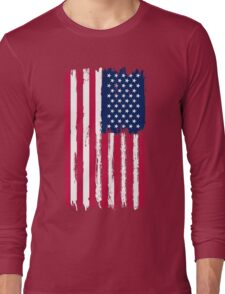American Flag painted style Long Sleeve T-Shirt