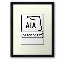 A1A - Space Coast Framed Print