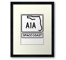 A1A - Space Coast Framed Print