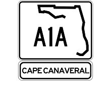 A1A - Cape Canaveral Photographic Print