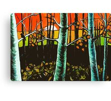 Orange Sky Through the Trees Canvas Print