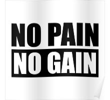 No Pain No Gain - Gym Quote Poster