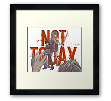 What do we say to death? Framed Print