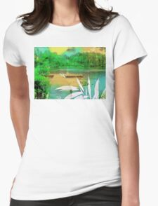 There Is This Lake  Womens Fitted T-Shirt