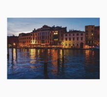 Venetian Impressions - Blue Hour Along the Grand Canal  One Piece - Short Sleeve