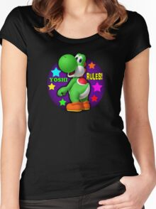 Yoshi Rules! Women's Fitted Scoop T-Shirt
