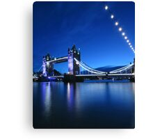 Tower Bridge (blue) Canvas Print