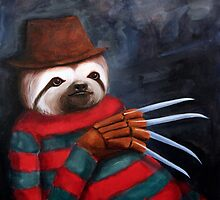 Nightmare on Elm Street Sloth by Jason Edward Davis