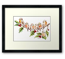 Seven Little Birds Framed Print