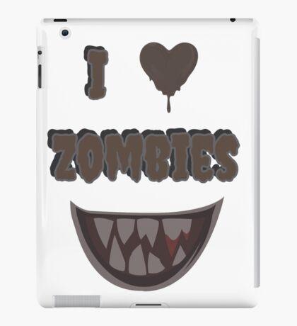 I Heart Zombies (white) iPad Case/Skin