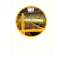 Golden State Warriors Oracle Arena Color Art Print