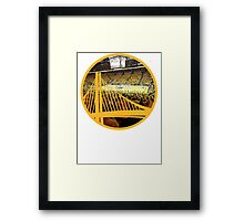 Golden State Warriors Oracle Arena Color Framed Print