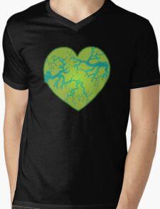 Zombie Heart Mens V-Neck T-Shirt