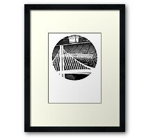 Golden State Warriors Oracle Arena Black and White Framed Print