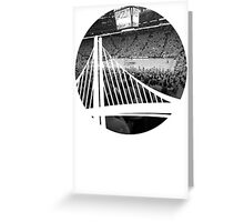 Golden State Warriors Oracle Arena Black and White Greeting Card