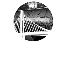 Golden State Warriors Oracle Arena Black and White Photographic Print
