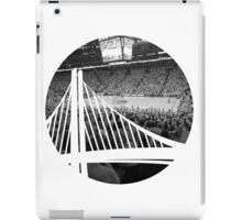 Golden State Warriors Oracle Arena Black and White iPad Case/Skin