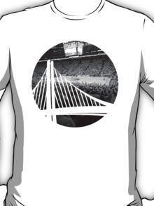 Golden State Warriors Oracle Arena Black and White T-Shirt