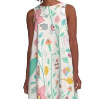 Colorful abstract animal art A-Line Dress