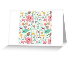 Colorful abstract animal art Greeting Card