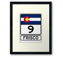 CO-9 Frisco Colorado Framed Print