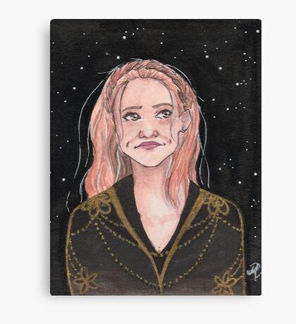 Lydia - Golden Canvas Print