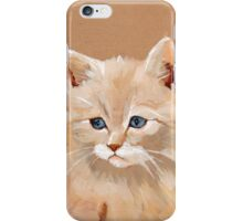 Lonely Cat Contemplates the Infinite iPhone Case/Skin
