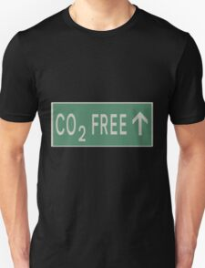 CO2 free future road sign Unisex T-Shirt