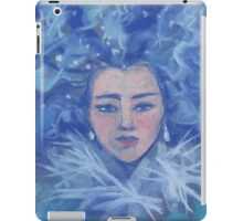 Snow girl, pastel painting iPad Case/Skin