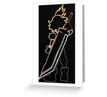 Cloud Strife Final Fantasy Greeting Card