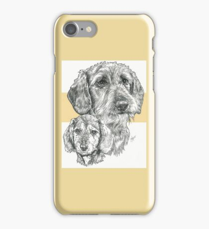 Dachshund, wire-haired, Father & Son iPhone Case/Skin