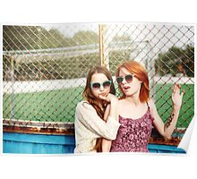 Two Best Friends Young Girls Staying Poster