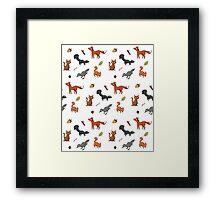 Woodland Animal Print (coloured) Framed Print