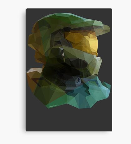 Low Poly Master Chief Canvas Print