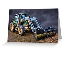 John Deer Tractor Greeting Card