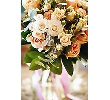 Fresh Bouquet with White and Cream Little Roses  Photographic Print