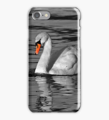 White Swan with a Splash iPhone Case/Skin