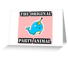 Original Party Animal Greeting Card